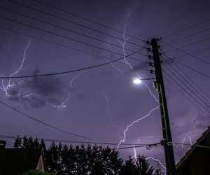 Sky Purple And Lightning Image