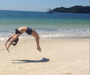 beach, girl, and sport image