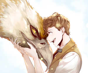 Newt & Niffler uploaded by Jess♡ on We Heart It