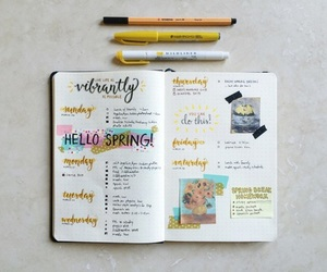 art, journal, and doodles image
