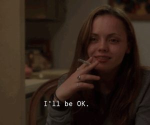 girl, movie, and sad image