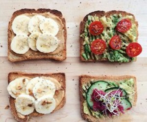 breakfast, healthy, and sandwiches image