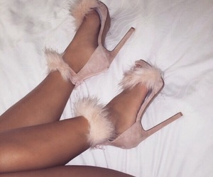 furry, heels, and pink image