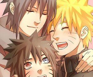 naruto, sasunaru, and sasuke image