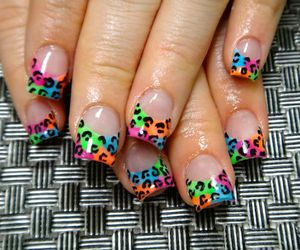 fashion, nails, and leopard image