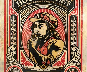 art, bob marley, and obey image