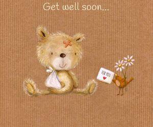 get well soon, kawaii, and cute image
