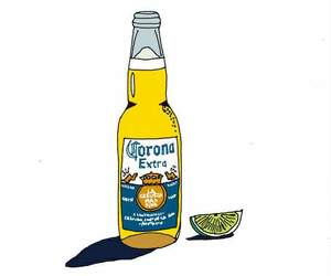 beer, corona, and drawing image