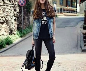 black, clothes, and denim image