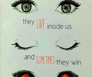 quotes, eyes, and monsters image