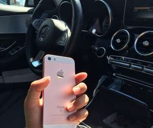 iphone, car, and mercedes image