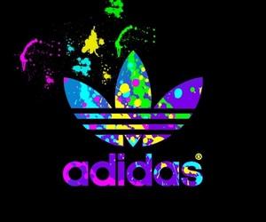adidas, paint, and rainbow image