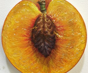 art, draw, and peach image