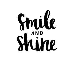 smile, quote, and shine image