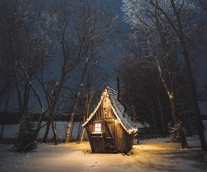 snow, house, and travel image