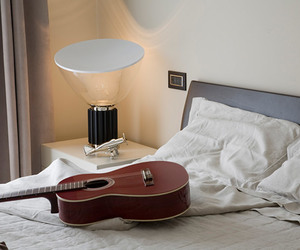 bed, bedroom, and stylish image