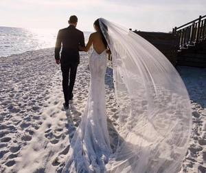 love, beach, and marriage image
