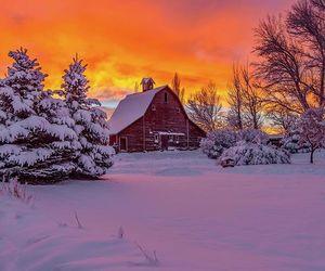 idaho, sunset, and winter image