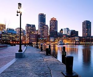 city, boston, and building image