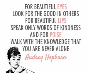 quotes, audrey hepburn, and lips image