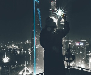 city, tower, and light up image
