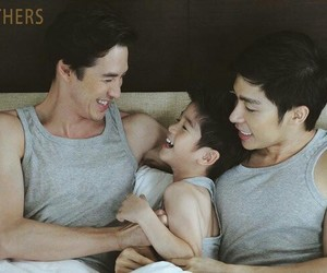 family, gay, and fathers image