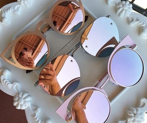 fashion, glases, and love image