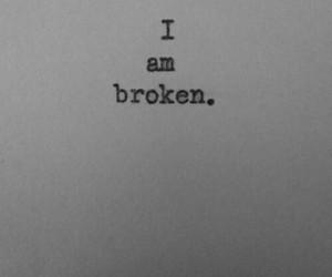 broken heart and sad image