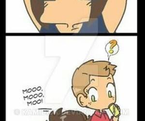 Jensen Ackles, moose, and supernatural image