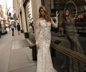 bride, wedding dress, and bridal image