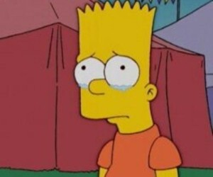 bart simpson, sad, and simpsons image