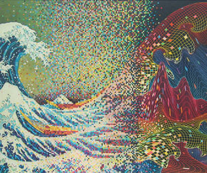 waves, art, and psychedelic image