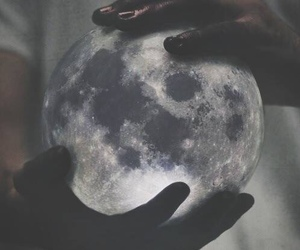 cosmic, hands, and moon image