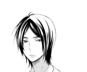 anime, black and white, and Fujoshi image