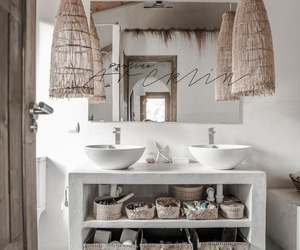bathroom, pink, and design image