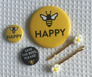 yellow, aesthetic, and pins image