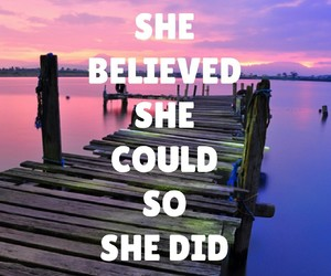 believe, she, and achieve image