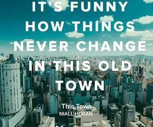 Lyrics, single, and this town image