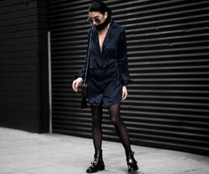 fashion blogger, street style, and silk dress image