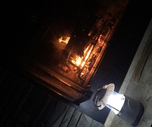 fire, lantern, and power outage image