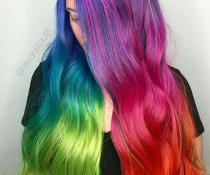 arcoiris, hermoso, and pelo image