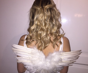 angel, blonde, and wings image