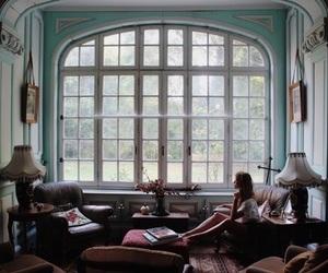 girl, house, and window image