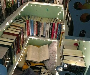 book, room, and light image