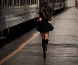 girl, train, and run image