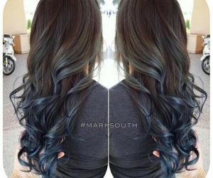 blue, ombre, and brown image