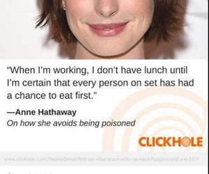 Anne Hathaway, funny, and lol image