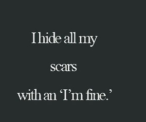 scars, quote, and sad image