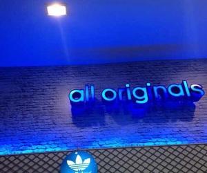 adidas, light, and blue image