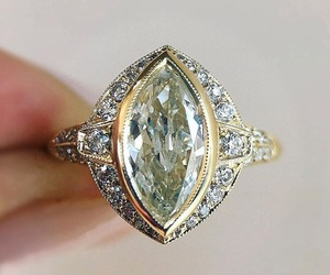 diamond, yellow gold, and engagement image